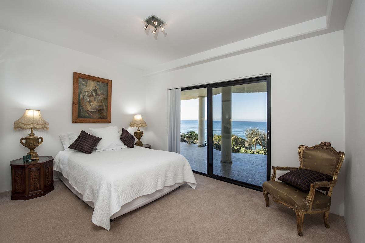 Top floor bedroom at Beach Paradise holiday house Forresters Beach NSW Sydney Australia